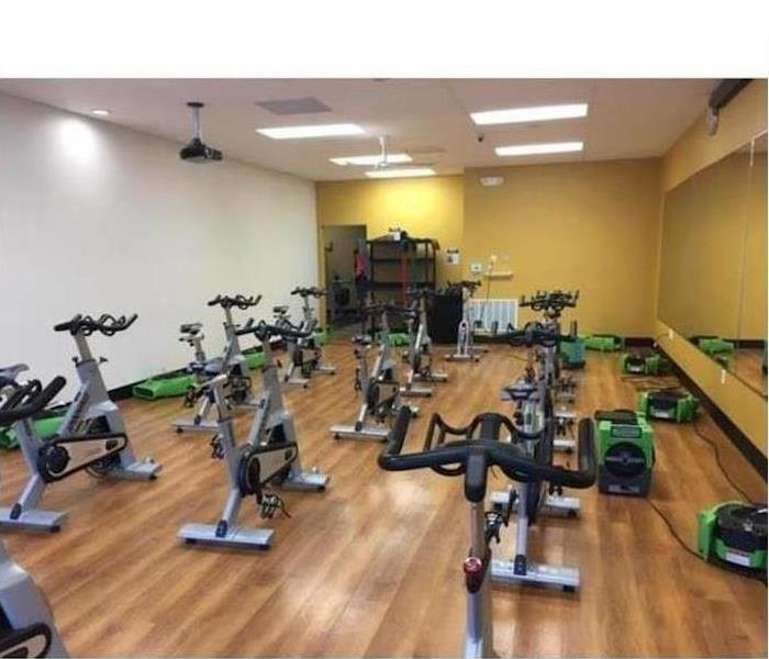 Water Damage – Tallahassee Fitness Center After