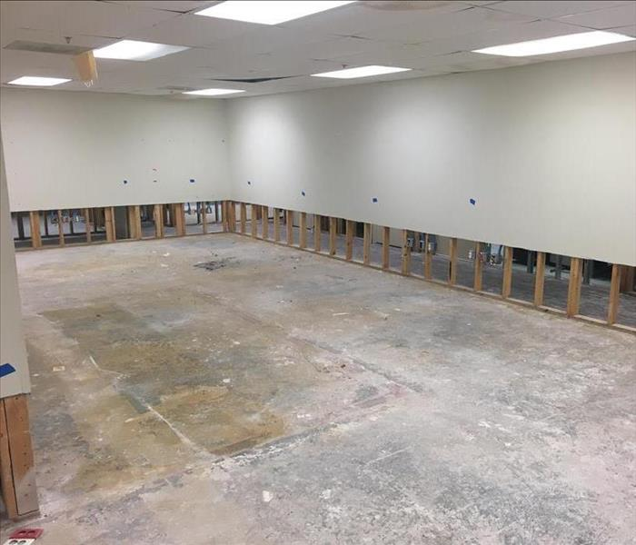 Demolition Results from Water Damage in a Commercial Building